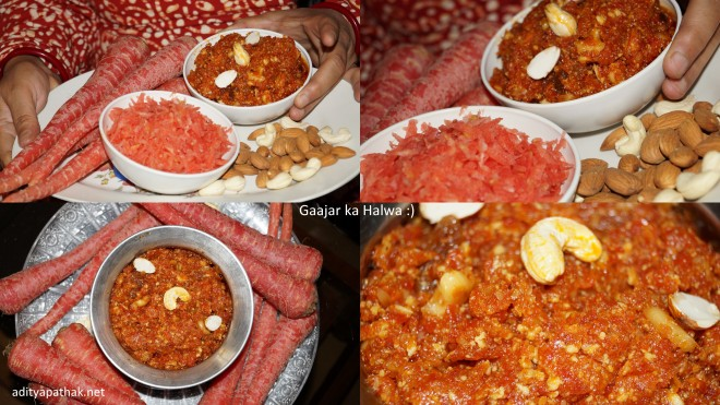 Gaajar Halwa Collage