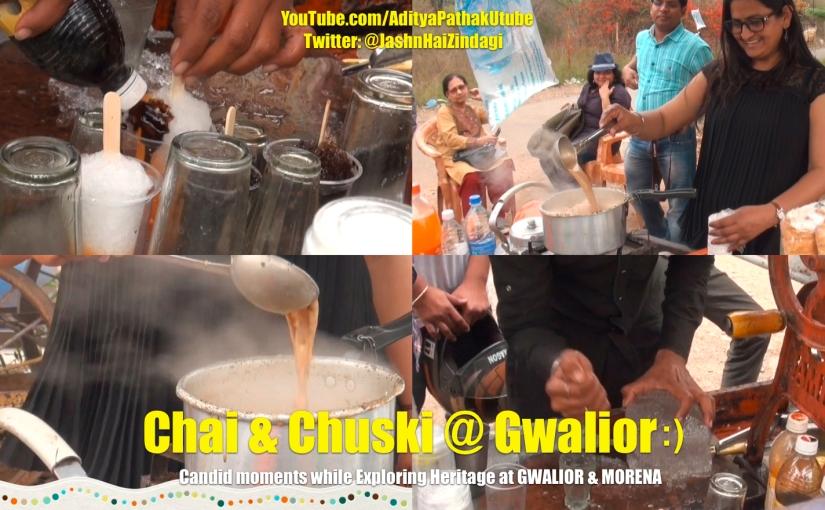Chai and Chuski at Gwalior:)