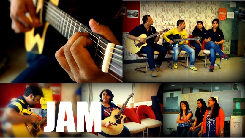 Candid JAM @ Office Cafeteria:)