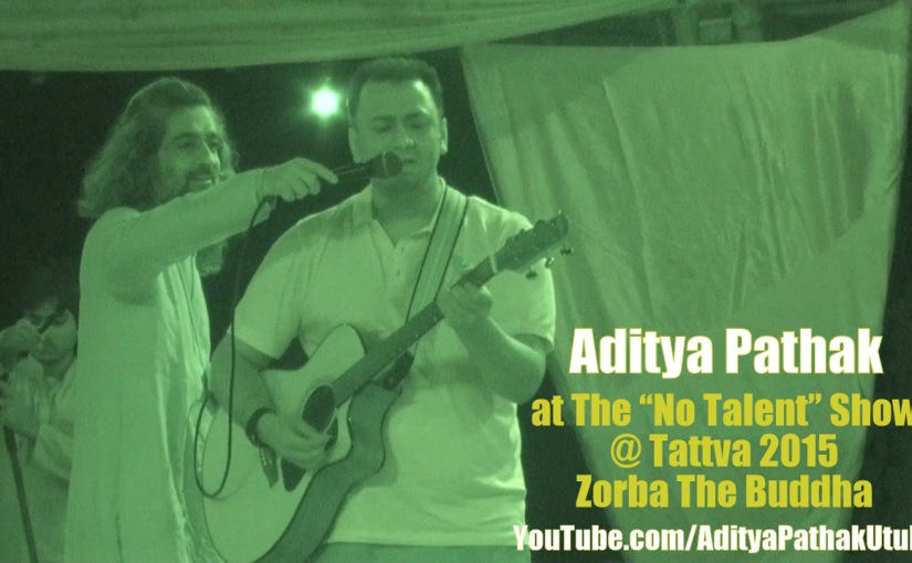 Me singing at the Tattva festival :)