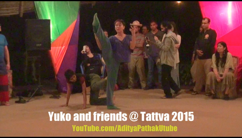 Dance Improvisation by Yuko and friends at Tattva Festival @ Zorba TheBuddha