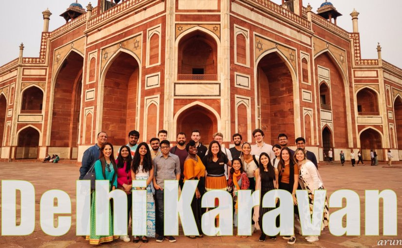Humayun's Tomb Complex – a Delhi Karavan Tour with students of NLU #CulturalExchange #WorldHeritage